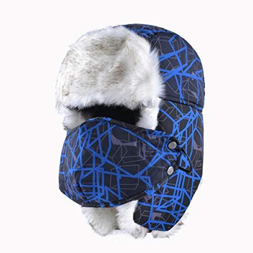 XCLWL muts voor dames en heren, wintermuts, beschermt de hals en het gezicht, natuurlijk, warm, ooren, dik, Leifeng, Bombermutsen, mutsen