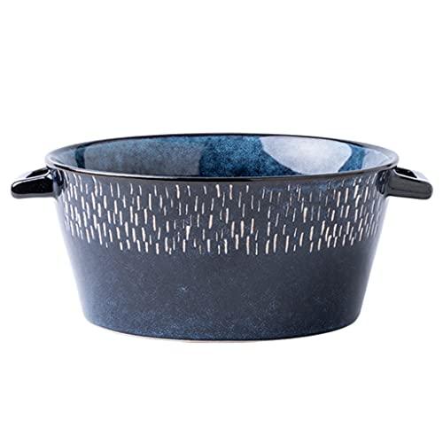 ZZRR Cuencos de Sopa, Cuenco de Cereales para Avena, Cuencos de cerámica para Ramen para Fideos, Cuencos de Porcelana para Cocina, Aptos para lavavajillas, microondas