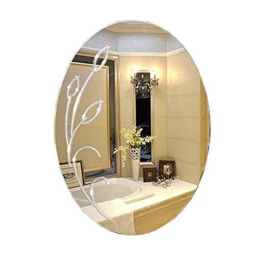 WSJ Ovaler Waschtisch-Kosmetikspiegel ohne Rahmen zur Wandmontage