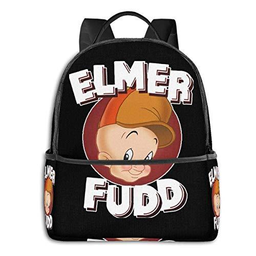 zhengdong Elmer Fudd Looney Tunes Multifunctional Lightweight Travel Bag Laptop Backpack-Waterproof Travel Backpack