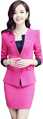 Yinxiang Liying Dames aantrekkelijk dun zakpak blazer rok set