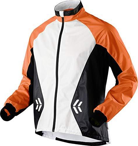 X-Bionic Erwachsene Funktionsbekleidung Running Man Spherewind UPD OW Jacket, Orange/White/Black, XL