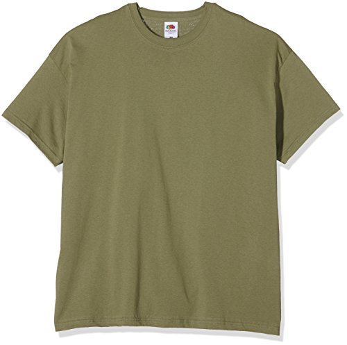Fruit of the Loom SS022M Camiseta, Verde (Classic Olive), Large para Hombre