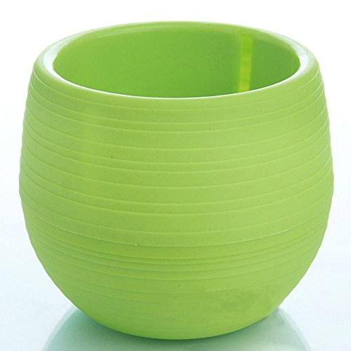 PENVEAT - Mini vaso rotondo in plastica per piante, per giardino, casa, ufficio, micro paesaggio, alta qualità, verde
