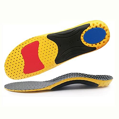 SKROWHN Eva Sport Running Plantillas ortopédicas para pies Planos Hombre Mujeres XO Piernas Arch Support para Fasciitis Plantar Pies Cuidado Insertar Pad Pad (Size : M EU 41-44)