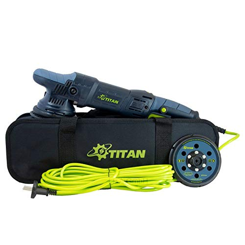 TITAN Exzenter Poliermaschine TDA15 v3 1050W 15mm Hub Ø125mm Polierteller