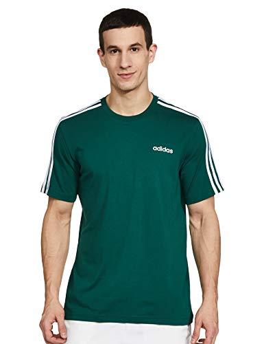 adidas E 3s tee Camiseta de Manga Corta, Hombre, Collegiate Green/White, M