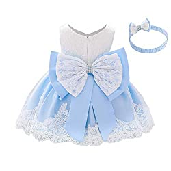 Light Blue Color Tutu Dress With Rhinestones for Baby