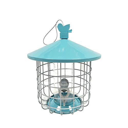 NgMik Comedero de pájaros para Semillas Sencilla y fácil de Limpiar Metal Que cuelga de Hardware Hierro Birdfeeder Gran Idea de Regalo para los Amantes de la Natural