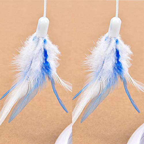 Jouet pour Animaux De Compagnie Long Simple Pet Toy Plume Cat Toy Rotary Feather Play with Cat Interactive Toy Funny Cat Stick for Pet Cat Toy
