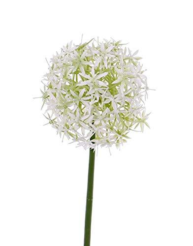 PARC Network - Zierlauch Künstlich, weiß, 30cm, Ø15cm - Allium Deko - Zierlauch Deko - Kunstblume - Allium Künstlich - Kunstpflanze