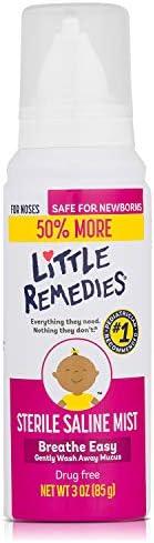 Little Remedies Sterile Saline Nasal Mist, Safe for Newborns, 3 fl oz