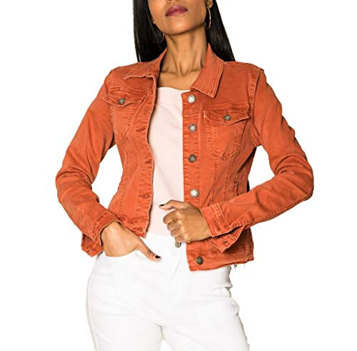EGOMAXX Chaqueta Corta De Jeans para Mujeres Chaqueta Corta De Primavera Denim West