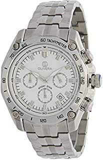 Watch by Olivera For Men, Chronograph, Stainless steel - OGS713