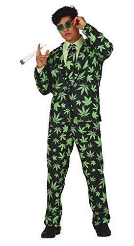 FIESTAS GUIRCA Disfraz de Hombre con Estampado de Marihuana