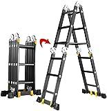 File cabinets Taburete Telescópicas, escaleras Plegables telescópicas Escaleras de Extensión Escalera de Aluminio articulación Grande, Escalera de Loft Ingeniería Banco (Size : 3.7M/12.1Ft)