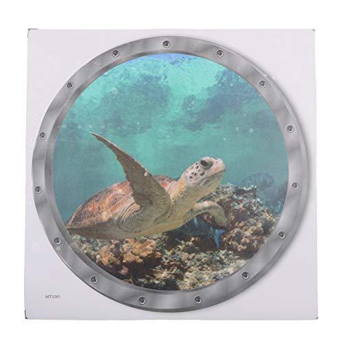 7thLake 1 STÜCK Waschmaschine Aufkleber Kreative 3D Kleine Fische Muster Aufkleber Wandaufkleber Wasserdichte Schildkröte Aufkleber für Waschmaschine Dekoration