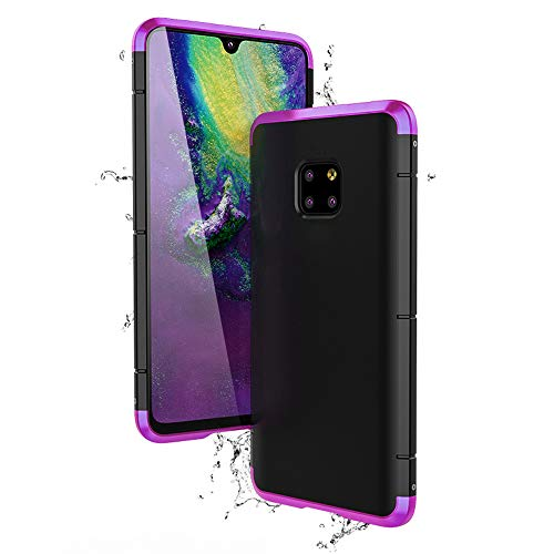 Jonwelsy Funda Huawei Mate 20 Pro, Aleación de Aluminio Bumper Metal Frame Combinación con PC Back Cover Case [Shockproof] [Heavy Duty] Carcasas for Huawei Mate 20 Pro (6,39 Pulgada)