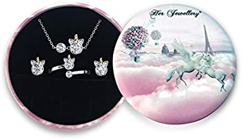 Her Jewellery Unicorn Set - Embellished With Crystals From Swarovski set with box