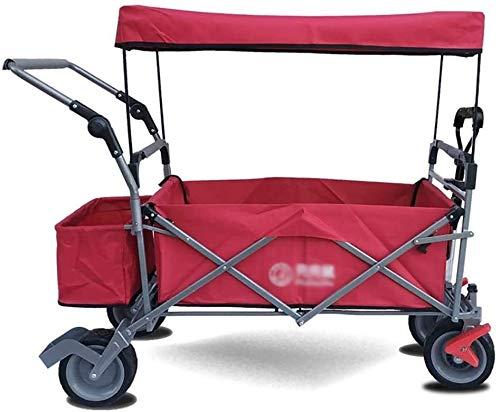 Collapsible Kids Wagen, leicht zusammenklappbar und tragbar, um den Raum zu sparen, der Space Push and Pull-Griff-Folding-Kinderwagen-Waggon im Freien Sport 1210 (Color : D)