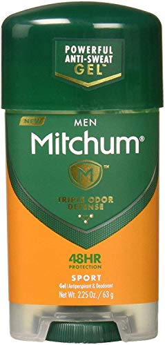 Mitchum Men Gel Antiperspirant Deodorant, Sport, 2.25oz (Pack of 6)