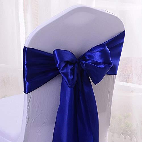 Lot de 10 nœuds papillon réutilisables en satin solide pour décoration de mariage Bleu roi