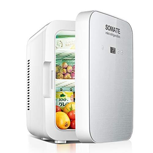 Deciduous 8 Liter tragbarer Mini-Kühlschrank Kühler und wärmer, Silent Table Top Cooler Bierkühlschrank Kühlen und Heizen für Car Home Camping Küche Bürotisch Schlafzimmer,Weiß