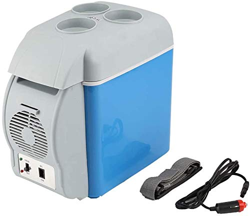 7.5L 240V AC y 12V DC nevera portátil caliente y fría cuadro electrónico portátil capacidad de 7.5L fría,Blue