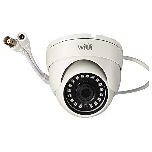 WiTi Cúpula Interior HD 1080P y 720p Lente Ajustable de 2.8mm Cámara de Seguridad y Vigilancia CCTV Gran Angular AHD Cámara BNC Salida Transmisión Coaxial