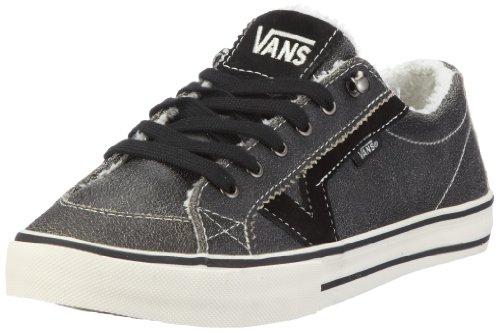 Vans W Tory (Leather) Black VXFQL3A - Zapatillas de Cuero para Mujer, Color Negro, Talla 40
