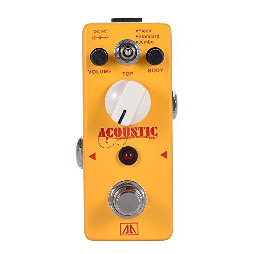 ammoon AROMA AAS-5 Akustikgitarre Simulator Effektpedal 3 Modi Aluminium Legierung Körper True Bypass