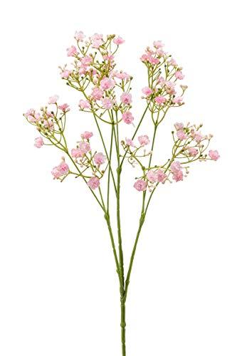 artplants.de Gypsophila paniculata Decorativa LITAGO, Rosa, 70cm - Velo de Novia - Gypsophila Artificial