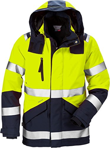 Fristads Kansas Workwear 120987 High Vis Gore-Tex Jacket Hi-Vis Yellow/Navy L
