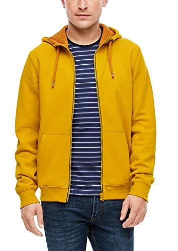 s.Oliver Herren 130.11.899.14.150.2055093 Sweatshirt-Jacke, Yellow, XL