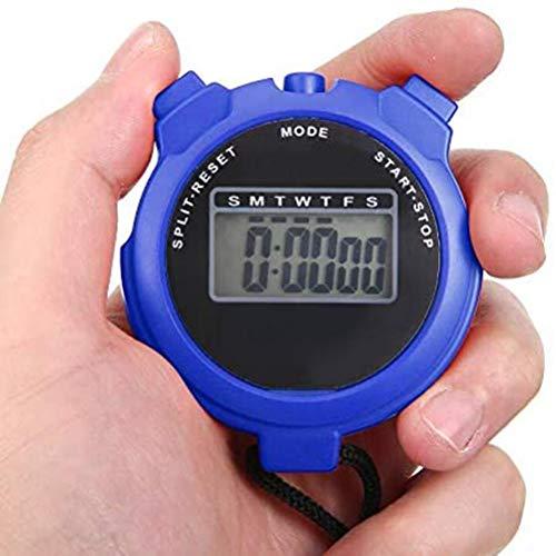 Cronómetro digital deportivo, cronógrafo de mano, cronómetro digital para nadar, correr, entrenamiento de fútbol, cronómetros deportivos a prueba de golpes para entrenadores, equipo de árbitro