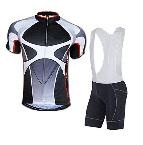 sponeed Men's Cycling Kits and Bib Shorts Padded Pants Cushioned Asia XXXL/US XXL Gray