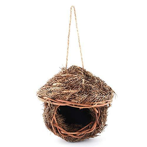 Lwieui Nichoirs Accueil extérieur Cour Ornement de Jardin for Parrot Canaries Oiseaux artificiels Handwoven Nid d'oiseau Boîte (Couleur : B, Size : 21X8.5X18CM)