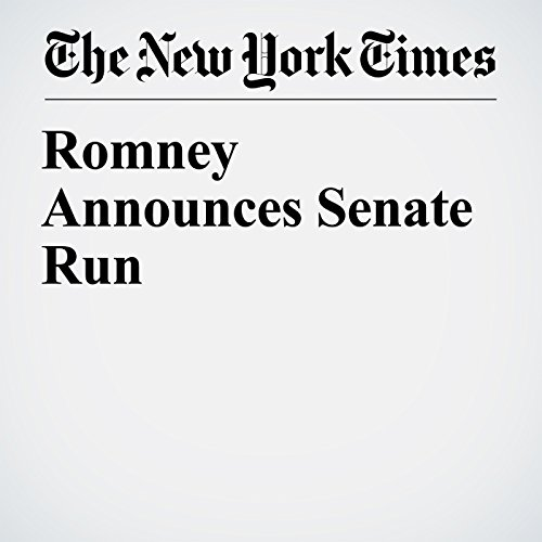 Romney Announces Senate Run copertina