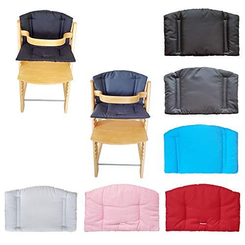 Aveanit Sitzkissen Kissenbezug für Stokke Tripp Trapp Baby Set mit hohem Rücken, Hochstuhl Auflage, Bezug Ersatzkissen Kissen (Schwarz Wasserdichtes)
