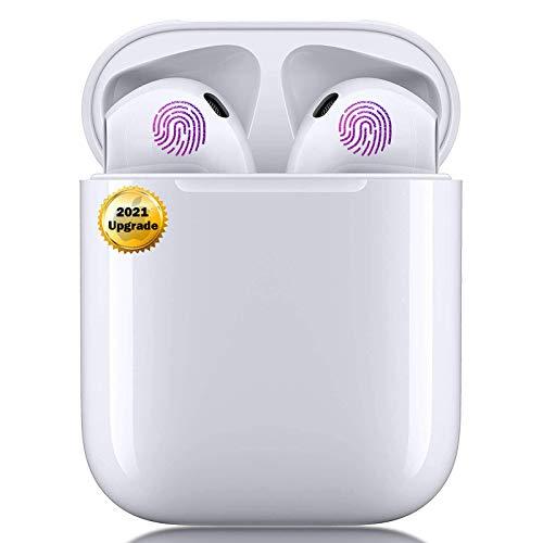 Auriculares Inalámbricos, Auriculares TWS Bluetooth 5.0 con microfono,HiFi Estéreo,Control Táctil,Cancelación de Ruido,IPX5 Impermeable,In-Ear Bluetooth para iPhone/Android/Samsung/Apple AirPods Pro