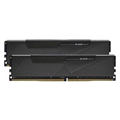 KLEVV BOLT X 16GB kit (8GB x2) DDR4-3200 MHz XMP 2.0 Gaming Desktop/Computer Memory RAM, Non RGB