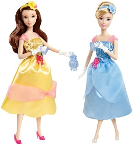 Disney Princess Tea Time Belle and Cinderella Doll Giftset by Mattel