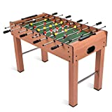 Giantex 48'' Foosball Table, Wooden Soccer Table Game w/Footballs, Suit for 4 Players, Perfect for Game Room, Arcades, Bar, Family Night, Competition Size Table Football for Kids, Adults