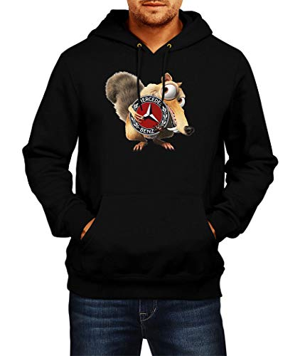Sweatshirt Mercedes Scrat Ice Age Logo Hoodie Herren Men Car Auto Tee Black Grey Long Sleeves Present Christmas (M, Black)