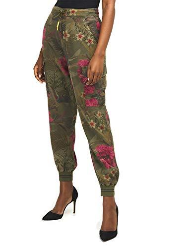 Desigual Pant_BALIBAY Pantalones Informales, Verde, S para Mujer