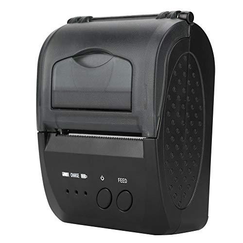 48 mm 70 mm / s draagbare thermische printer 1 of 2-dimensionale codedruk QR-code Bluetooth USB dubbele oplaadbare mini thermische printer voor gastronomie, kledingindustrie, winkel (EU)