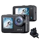 Action Cam 4K 20mp CAMBASE 40M Unterwasserkamera Doppelbildschirm Vlog Kamera W-LAN wasserdichte helmkamera Touchscreen EIS Fernbedienung Actionkameras mit Ladegerät und 2X 1350mAh Akkus