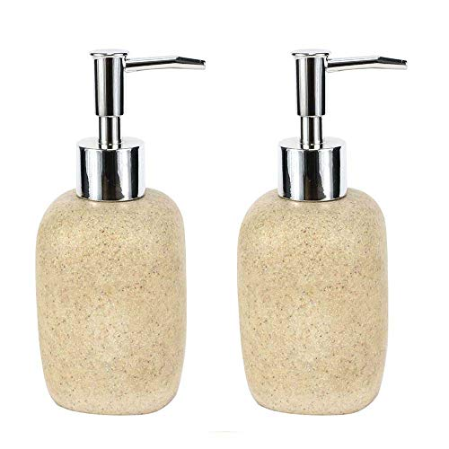 JYXR HOME&LIVING Soap Dispensers, Sandstone Pattern Liquid Soap Dispenser, Decorative Soap Dispenser -