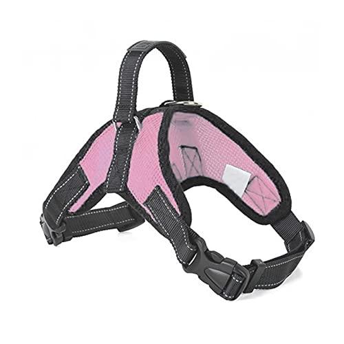 DZSW Cmdzsw Pet Supplies Arnés grande para perro pequeño y luminoso LED collar chaleco para mascotas accesorios para perros (color de malla rosa, tamaño: S)