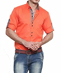 dazzio Mens Cotton Slim Fit Casual Shirt